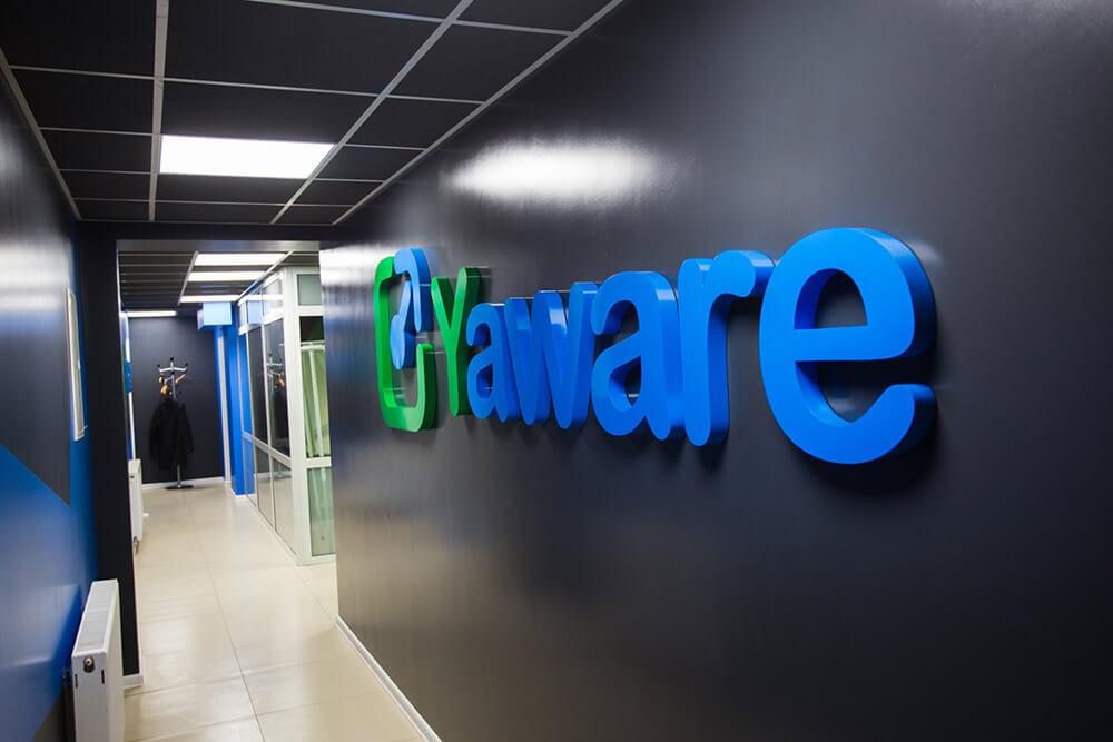 Yaware Logo in office
