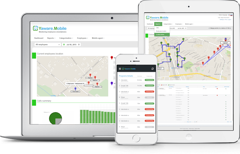 Employee phone tracking software